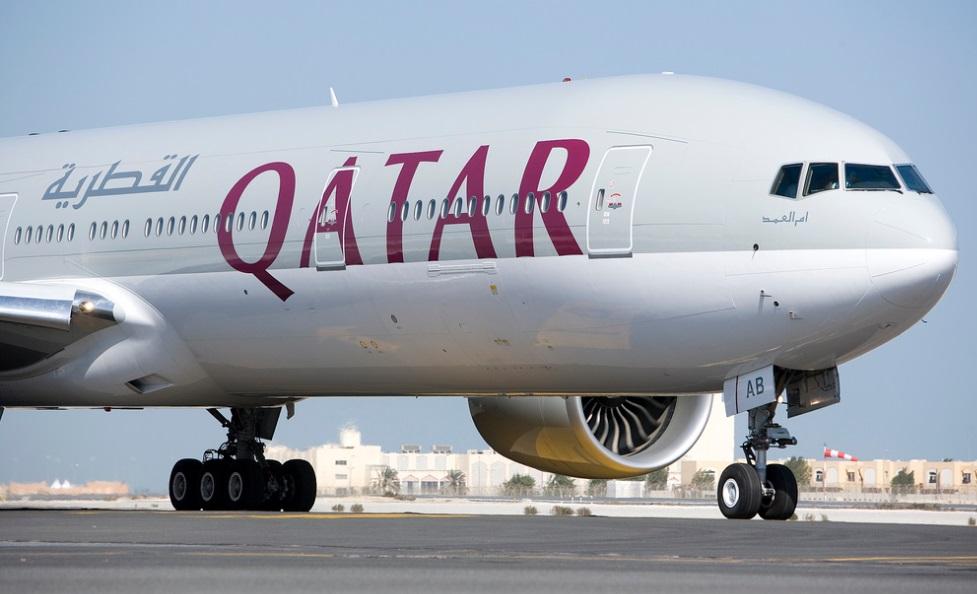 самолет авиакомпании Катарские авиалинии фотография